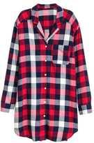 H&M Flannel Nightshirt - Red/plaid - Ladies