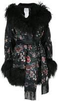Sacai shearling floral jacket