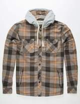 JETTY Flint Mens Hooded Flannel Shirt