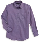 Report Collection Boy's Textured Dress Shirt