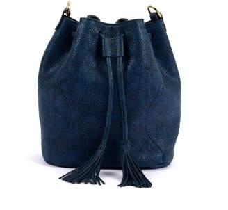 Atelier Hiva Rivus Straw Leather Bag Navy