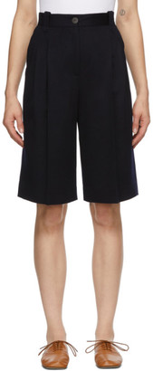 Loewe Navy Virgin Wool Shorts