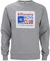Billionaire Boys Club Men's Processed Reversible Crew Neck Sweatshirt Heather Grey