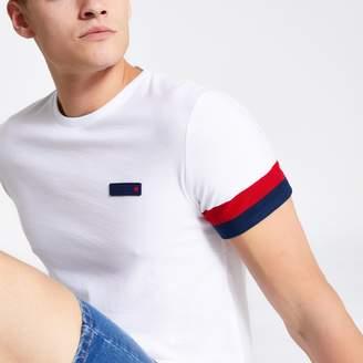 Superdry Mens River Island International White T-shirt