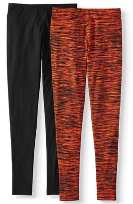 Time and Tru Women's Knit Halloween Legging - 2 Pack