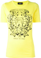 DSQUARED2 long tattoo graphic T-shirt - women - Cotton - S