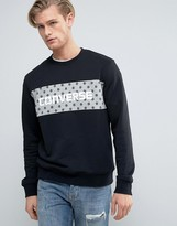 Converse Sweat With Large Dot Logo in Black 10003758-A03