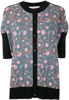 Marni short sleeved cardigan - women - Nylon/Viscose/Wool - 40
