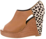 Rebecca Minkoff Peep-Toe Leather Wedges