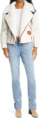 Frame Fleece & Nylon Moto Jacket