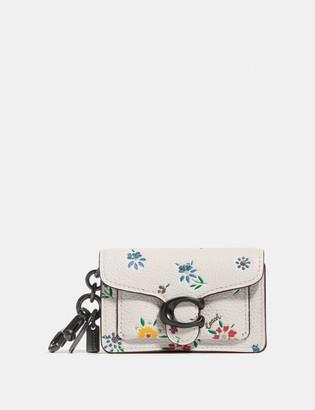 Coach Mini Tabby Bag Charm With Wildflower Print