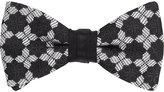 Duchamp Men's Medallion Silk Jacquard Bow Tie-Black
