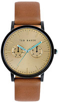 Ted Baker Brit Multifunction Leather-Strap Watch