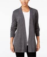 Karen Scott Luxsoft Open-Front Cardigan, Only at Macy's