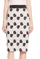 ABS by Allen Schwartz Floral Lace Pencil Skirt
