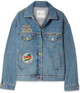 Mira Mikati Venice Beach Appliquéd Denim Jacket - Mid denim