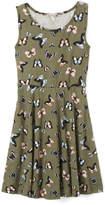 Speechless Olive Butterfly Sleeveless Dress - Girls