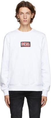 Diesel White S-Girk X5 Sweatshirt