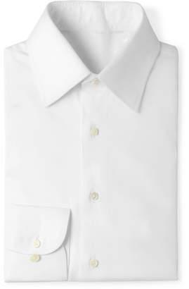 Husbands White Slim-Fit Cotton-Twill Shirt