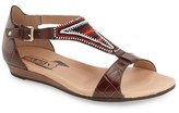 PIKOLINOS Women's 'Alcudia' T-Strap Beaded Sandal