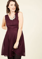 Warm Welcome Home A-Line Dress in Merlot in S