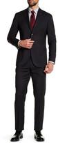 Michael Bastian Black Pin-Dot Two Button Notch Lapel Wool Extra-Trim Fit Suit