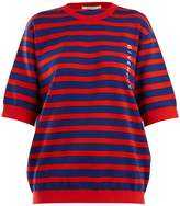 Givenchy Logo-print striped cotton-blend sweater