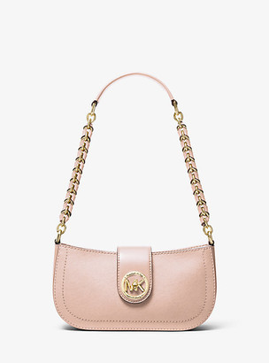 Michael Kors Carmen Extra-Small Saffiano Leather Shoulder Bag