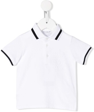 Dolce & Gabbana Kids Stripe Trim Polo Shirt