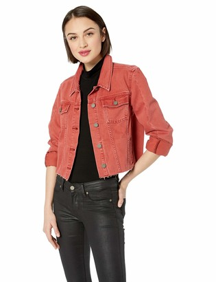 Paige Women's Relaxed Vivienne Jacket w/Seaming & Raw Hem