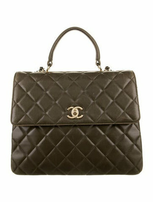Chanel Large Trendy CC Flap Bag Olive