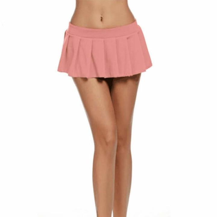 Koitniecer Women Mini Short Skirt Party Clubwear Sexy Dress Bodycon Dance Club Micro Skirt (L