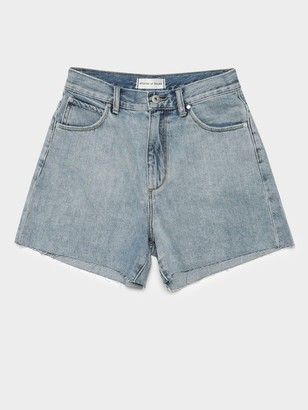 Articles of Society Belle Shorts in Vintage Light Blue Denim