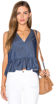 Lucca Couture V Neck Peplum Tank