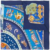 Salvatore Ferragamo Maharaja Garden Parade print scarf