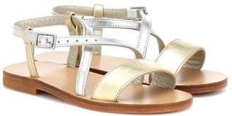 Bonpoint Zora metallic leather sandals