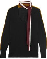 Tomas Maier Striped Merino Wool Sweater - Black