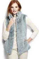 Classic Women's Petite Furry Textured Vest-Misty Lilac