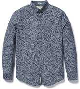 Original Penguin Classic Fit Ivy Leaf Print Chambray