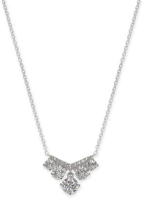 "Eliot Danori Cubic Zirconia Statement Necklace, 16"" + 1"" extender"