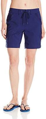 Jag Women's Solid Adjustable Rolled Walking Board Short