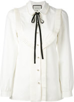 Gucci pleated trim blouse