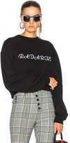 Rodarte Radarte LA Embroidery Cropped Sweatshirt in Black.