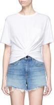 Alexander Wang Twist front cotton T-shirt