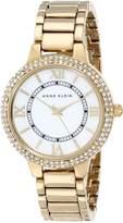 Anne Klein Women's AK-1498MPGB Stainless-Steel Quartz Watch