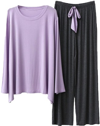 Goodnight Macaroon 'Quinn' Round Neck Long Sleeve Ribbon PJ Set (4 Colors)