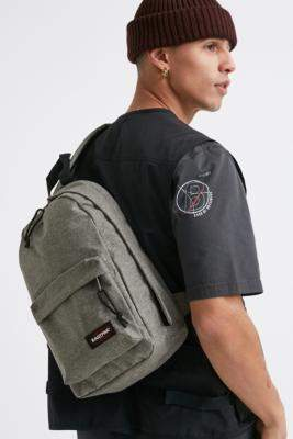 Eastpak Litt Black One-Strap Backpack - grey at Urban Outfitters
