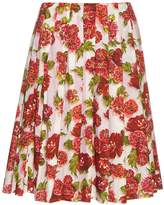 Emilia Wickstead Polly floral-print A-line skirt
