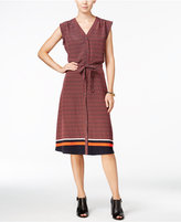 Tommy Hilfiger Printed Border Shirtdress, Only at Macy's