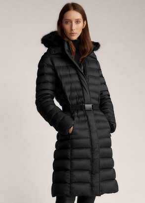 Ralph Lauren Demi Faux Fur-Trim Down Coat